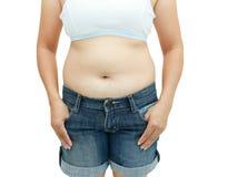 Superficie abdominal de la mujer gorda Fotografía de archivo libre de regalías