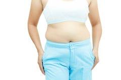 Superficie abdominal de la mujer gorda Foto de archivo