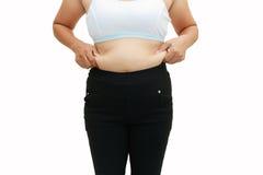 Superficie abdominal de la mujer gorda Imagen de archivo libre de regalías