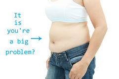 Superficie abdominal de la mujer gorda Fotos de archivo libres de regalías