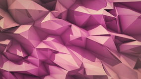 Superficie abstracta poligonal El lazo 3D de Semless rinde almacen de metraje de vídeo