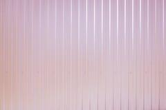 Superficie acanalada entonada rosa de la textura del metal Fotos de archivo