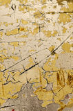 Superficie amarilla agrietada Imagen de archivo