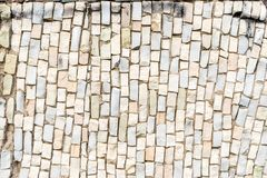 superficie bianca del mosaico variopinto astratto dello smalt con l'alta risoluzione per fondo fotografia stock libera da diritti