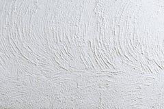 Superficie bianca della parete del gesso, struttura del cemento per fondo Fotografie Stock
