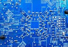 Superficie blu del circuito immagini stock