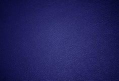 Superficie blu del lether immagini stock