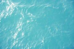 Superficie blu del mare Immagini Stock Libere da Diritti