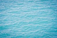 Superficie blu del mare Immagine Stock