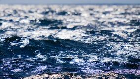 Superficie blu del mare di vista sul mare Fondo dell'acqua Fotografia Stock