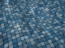 superficie blu del pavimento non tappezzato del mosaico di vacillazione 3d Fotografie Stock Libere da Diritti