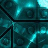 Superficie blu dell'alluminio Fondo geometrico metallico di struttura Concetto di industria Fotografia Stock Libera da Diritti