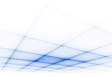 Superficie blu di griglia 3D Immagini Stock