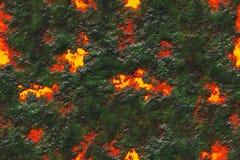 Superficie bruciante della crepa dei carboni illustrazione vettoriale