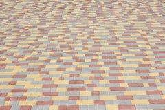 Superficie coloreada del pavimento Fotos de archivo libres de regalías