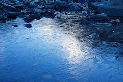 Superficie congelata del lago Fotografia Stock Libera da Diritti