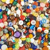 Superficie coperta di bottoni multipli Fotografie Stock