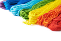 Superficie coperta di filati del filo del ricamo Fotografia Stock Libera da Diritti