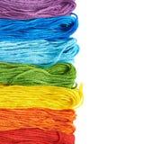Superficie coperta di filati del filo del ricamo Immagini Stock Libere da Diritti