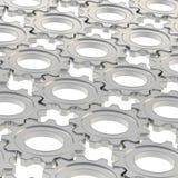 Superficie coperta di ingranaggi della ruota dentata Fotografia Stock