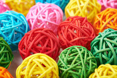 Superficie coperta di palle della paglia Fotografie Stock