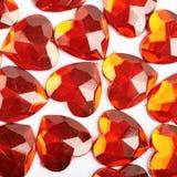 Superficie coperta di perle del cuore Fotografie Stock