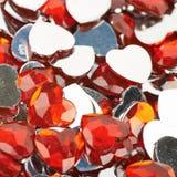 Superficie coperta di perle del cuore Immagine Stock