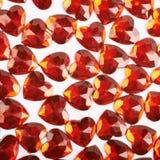 Superficie coperta di perle del cuore Fotografia Stock