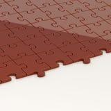 Superficie coperta per metà con i puzzle Fotografie Stock
