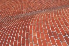 Superficie curva del mattone Fotografia Stock Libera da Diritti