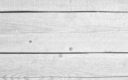 Superficie d'annata di legno bianca della parete del pavimento della plancia fotografia stock