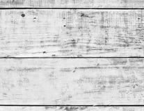 Superficie d'annata di legno di legno bianca della parete del pavimento della plancia fotografia stock