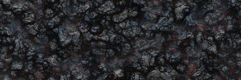 Superficie d'ardore bruciata del carbone dei carboni Natura astratta p illustrazione di stock