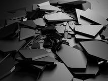 Superficie d'argento scura incrinata di messa a terra di danno rotto Fotografia Stock Libera da Diritti