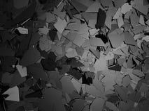 Superficie d'argento scura incrinata di messa a terra di danno rotto Immagine Stock Libera da Diritti