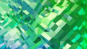 superficie 3d come poli fondo geometrico astratto basso 3d con i colori moderni di pendenza, 3 verdi blu illustrazione vettoriale