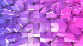 superficie 3d come 3d poli fondo geometrico astratto basso con i colori moderni di pendenza, viola blu rossa 5 illustrazione vettoriale