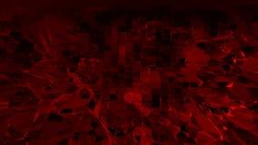 Superficie d'ondeggiamento poli bassa rosso scuro come fondo di sogno Ambiente di vibrazione geometrico poligonale rosso scuro o  illustrazione di stock