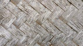 Superficie de bambú de la estera Fotografía de archivo