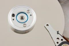 Superficie de HDD y pista de mecanismo impulsor Fotografía de archivo