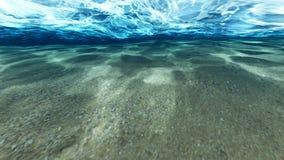 Superficie de la arena debajo del agua ilustración del vector