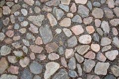 Superficie de la carretera de piedra del adoquín Fotografía de archivo
