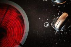 Superficie de la estufa sucia Imagen de archivo