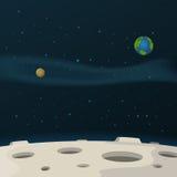 Superficie de la luna Foto de archivo libre de regalías