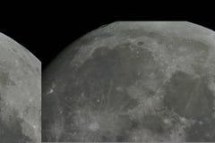 Superficie de la luna fotos de archivo libres de regalías
