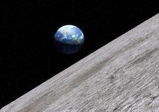 Superficie de la luna de la tierra Foto de archivo