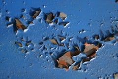 Superficie de la pared azul vieja Foto de archivo