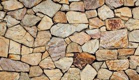 Superficie de la pared de piedra con el cemento Fotografía de archivo libre de regalías