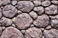 Superficie de la pared de piedra con el cemento Foto de archivo libre de regalías