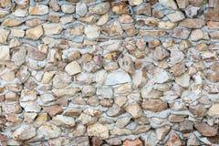 Superficie de la pared de piedra con el fondo del cemento Foto de archivo